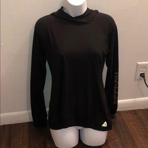 Long Sleeve Hooded Reebok Shirt With Keyhole Thumb